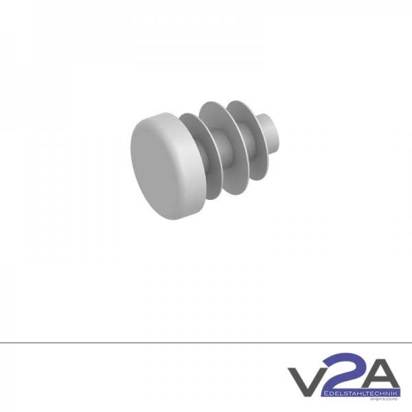 Endkappe Kunststoff Grau PVC Ø 12mm
