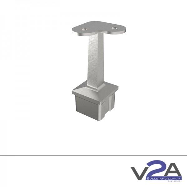 Vierkantrohrstütze Eckrohrstütze 90° Winkel für Handlauf Edelstahl