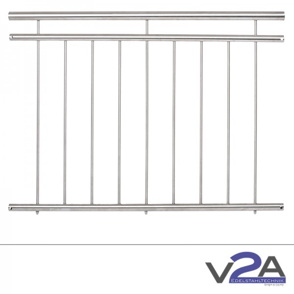 Französischer Balkon V2A Edelstahl - verschiedene Varianten