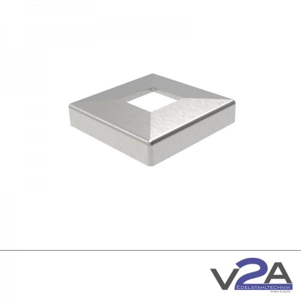 Abdeckrosette Vierkant 108x108mm V4A
