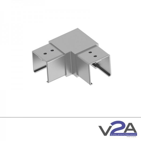 Rohrverbinder für Nutrohr 90° vierkant