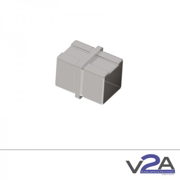 Vierkantrohrverbinder gerade für Verkantrohr 40 x 40 x 2mm Edelstahl