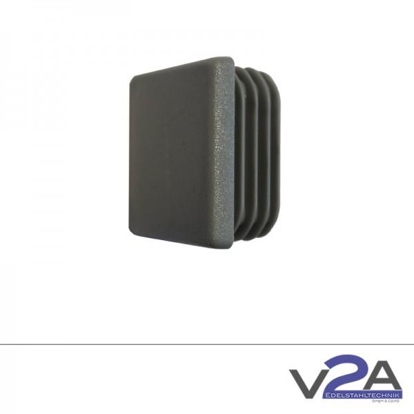 Endkappe Kunststoff Grau PVC 40x40mm