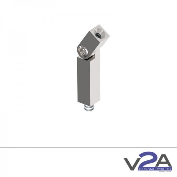 Verbindungsstift vierkant mit Gelenk geschliffen Handlaufhalter Edelstahl-Copy