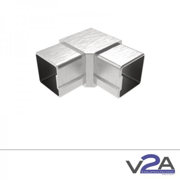 Vierkantrohrverbinder Eckbogen 90° für Verkantrohr 40 x 40 x 2mm Edelstahl