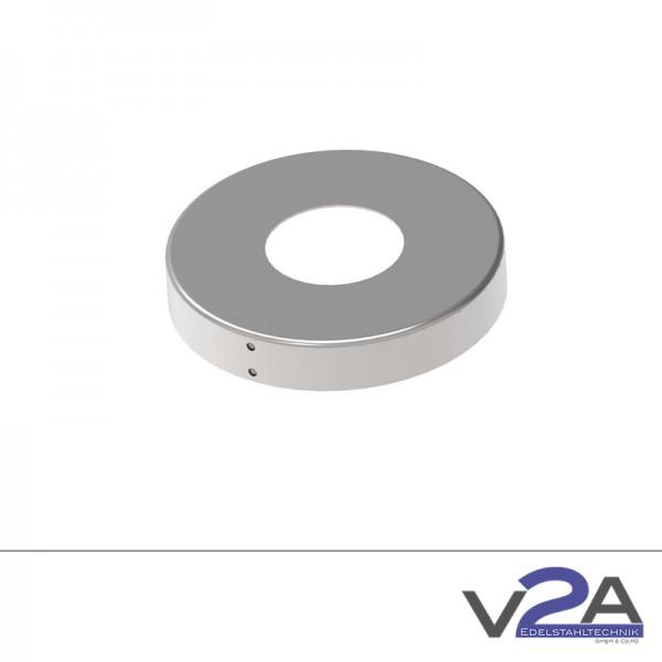 Abdeckrosette rund zweiteilig Ø 105mm V4A