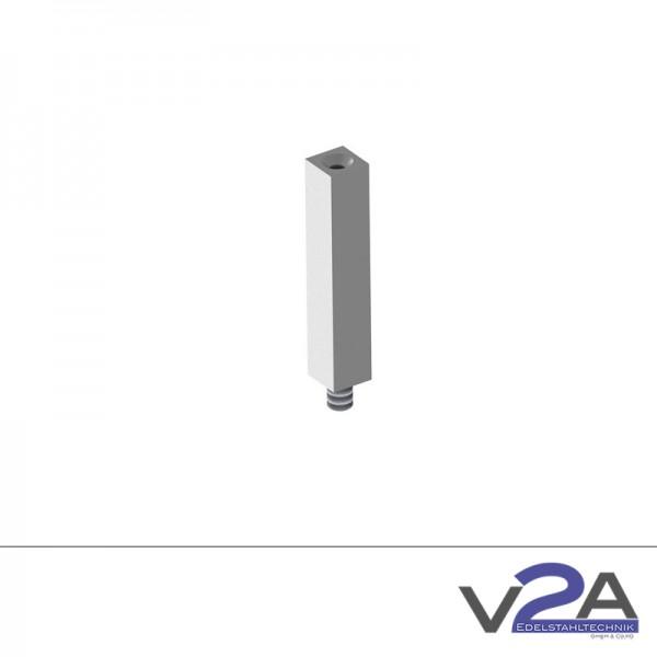 Verbindungsstift vierkant geschliffen Handlaufhalter Edelstahl